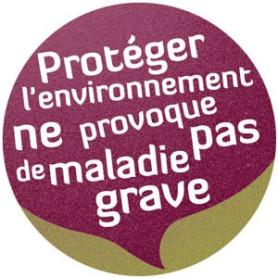 """Badge """" protéger l'environnement """""""