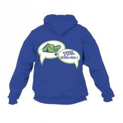 "Sweat-shirt BP ""Yes, week-end !"" Taille XL - bleu royal"
