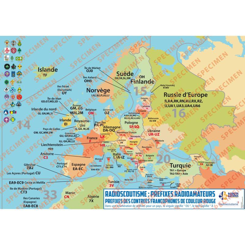 Planisphère Radioscoutisme Europe