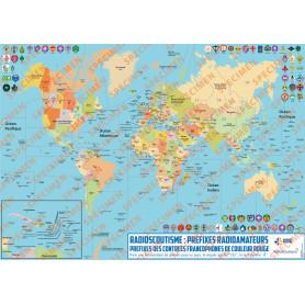 Planisphère Radioscoutisme Monde