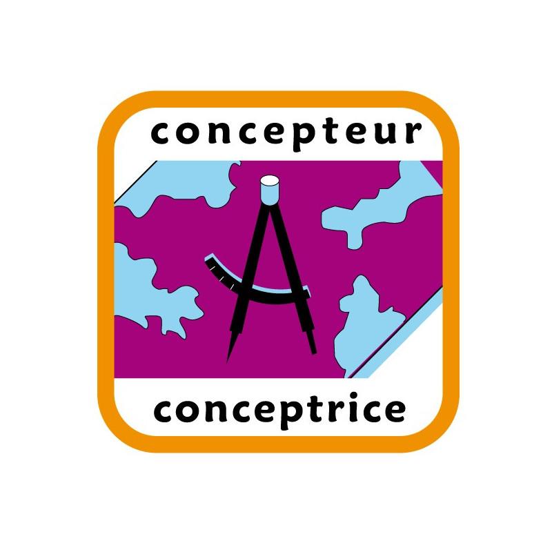 Insigne concepteur/conceptrice