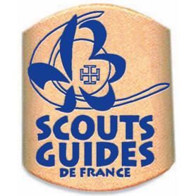 Bague de foulard en cuir SGDF (ancien logo) -