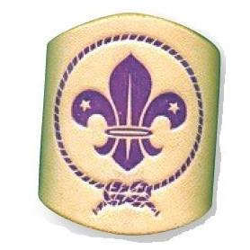 Bague en cuir scoutisme mondial