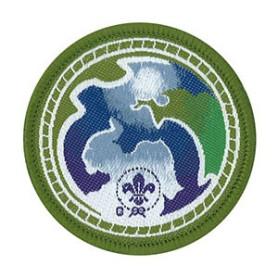 Insigne world scout environnement vert