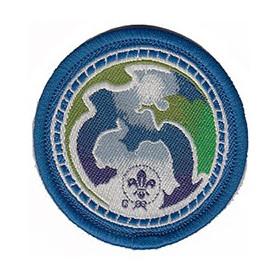 Insigne world scout environnement bleu