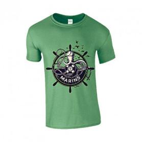T-shirt marin - motif pieuvre