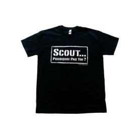 T-shirt « Scout... pourquoi pas toi ? » - noir