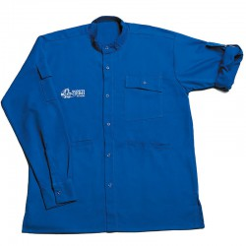 Chemise bleue Scouts/ Guides - modèle chef/ cheftaine