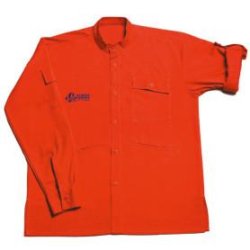 Chemise rouge Pionniers/ Caravelles - modèle chef/ cheftaine