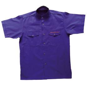 Chemisette violette Cadres - modèle Homme