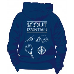 "Sweat à capuche bleu marine ""Scout essentials"""