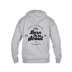 Sweat zippé « Born to be Scout » gris