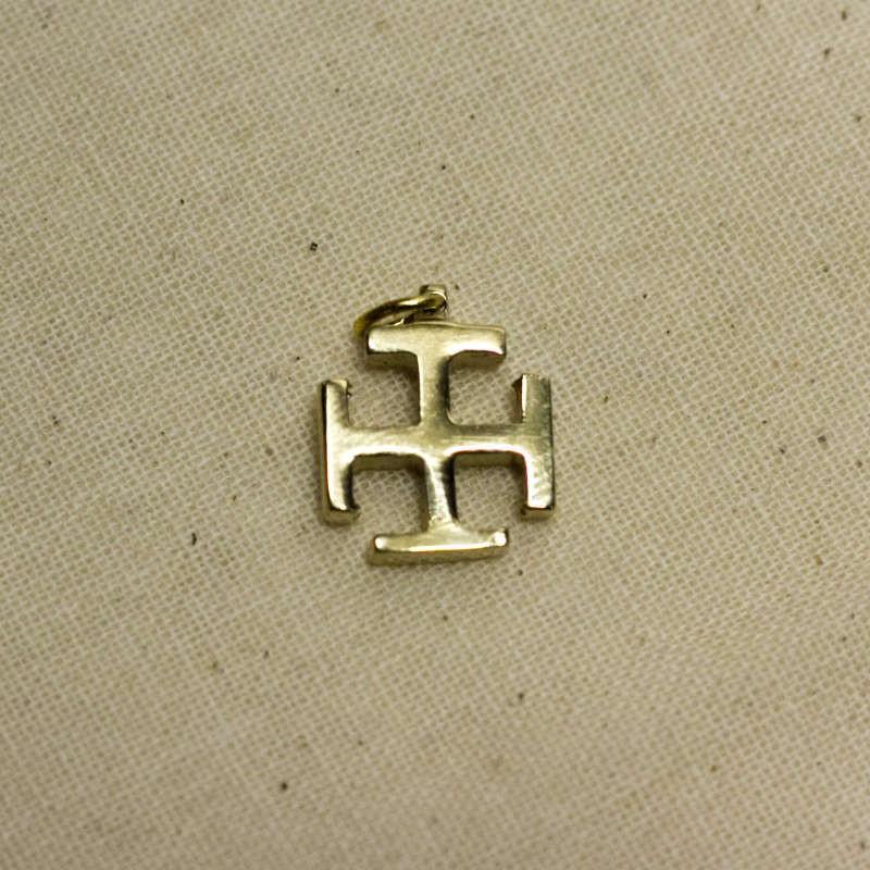 Croix scoute en bronze - Petit modèle