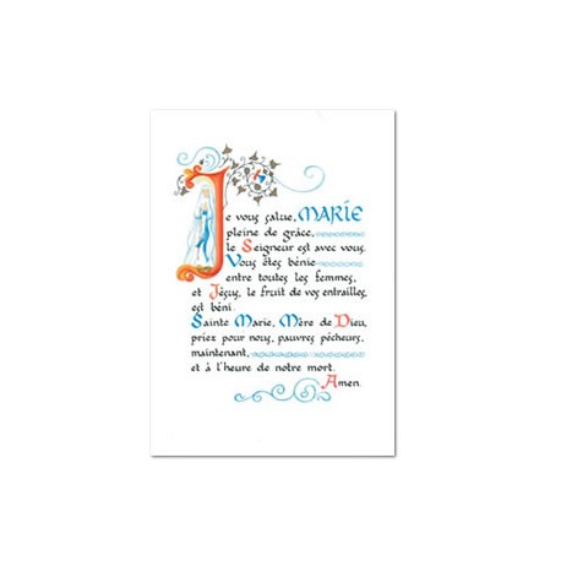 "Carte postale "" Je vous salue Marie """