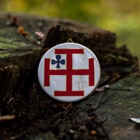 Céramique croix de Jérusalem Scoute et Guide