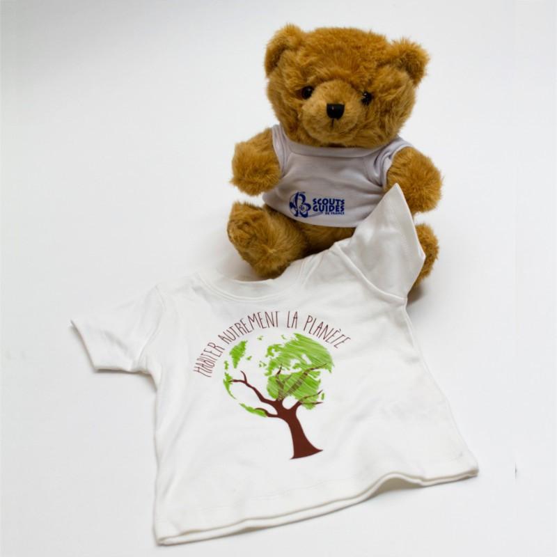 Tee-shirt bébé « HALP » - coton bio