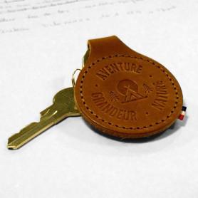 """Porte-clés en cuir """"tente"""""""