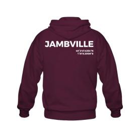 Sweat zippé en coton biologique « Jambville » - bordeaux