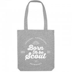 "Tote bag ""Born to be scout"" gris"