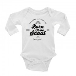 Body manches longues « Born to be scout » - coton bio