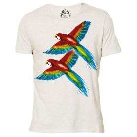 T-shirt en coton biologique « La joie » - blanc