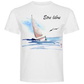 T-shirt « La Liberté » - blanc