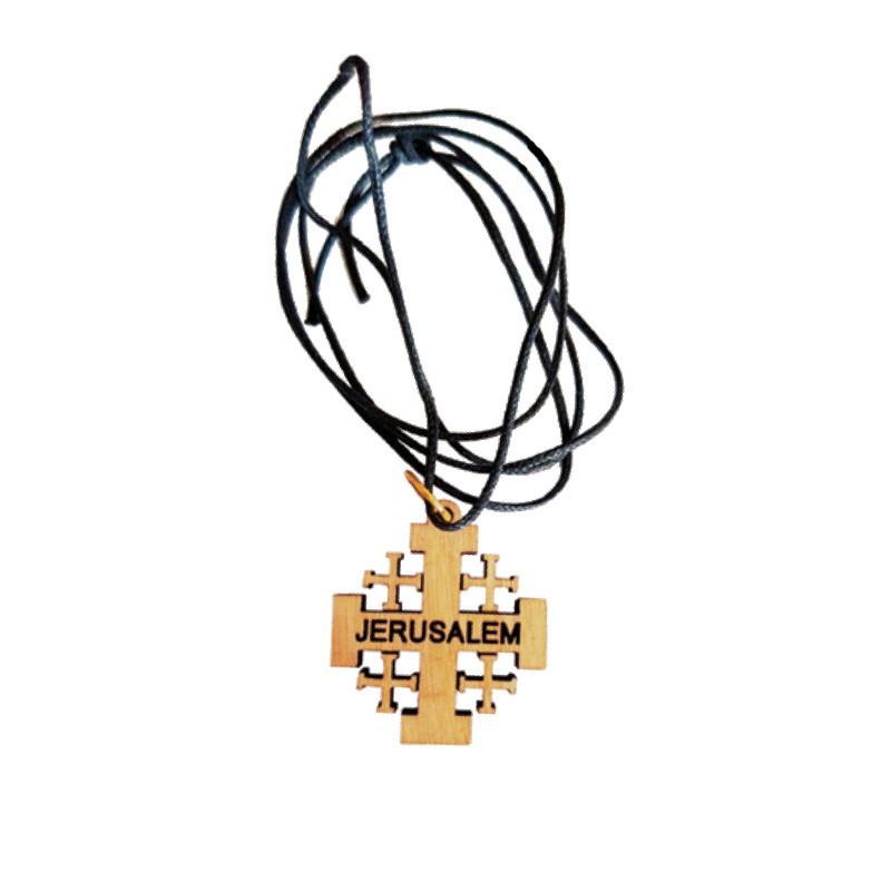 Croix avec inscription Jérusalem en olivier