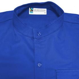 Chemise bleue en coton Fairtrade - chef.taine Scouts/ Guides