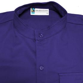 Chemise violette en coton Fairtrade - Responsables, coupe Homme