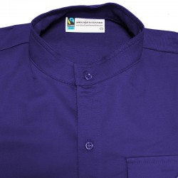 Chemisette violette Fairtrade - Responsables - coupe homme