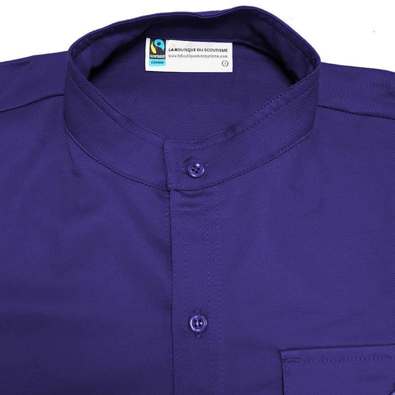 Chemisette violette Fairtrade - Responsables - coupe homme