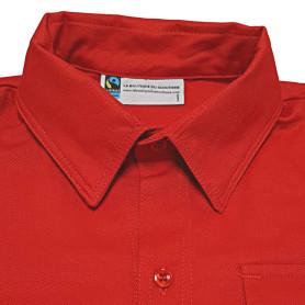 Chemise rouge Fairtrade - Pionniers/ Caravelles - modèle jeune