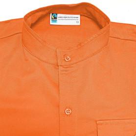 Chemise orange en coton Fairtrade - chef.taine Louveteaux/ Jeannettes