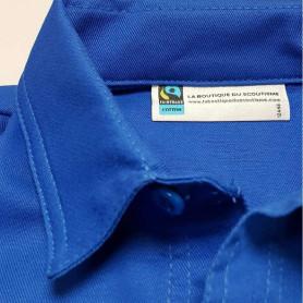 Chemise bleue Fairtrade - Scouts/ Guides - modèle jeune