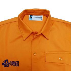 Chemise orange Fairtrade - Louveteaux/ Jeannettes - modèle jeune