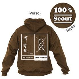 Sweat - shirt « 100 % Scout » Taille XXL
