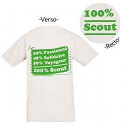 Tee - shirt « 100 % Scout » Taille XL