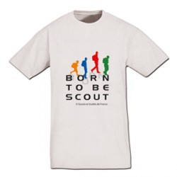 Tee - shirt « Born to be scout » Taille 12/14 ans