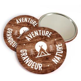 """Miroir de poche """"Aventure grandeur nature"""""""