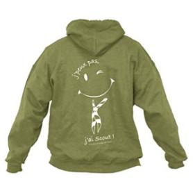 Sweat - shirt « J'peux pas, j'ai scout ! » Taille S