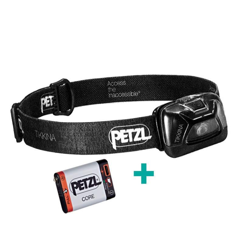 Ensemble Petz lampe frontale Tikkina + batterie rechargeable