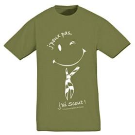 Tee - shirt « J'peux pas, j'ai scout ! » Taille M