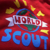 Sweat à capuche enfant « World Scout » - rouge