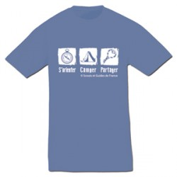 Tee - shirt « S'orienter, camper, partager » Taille S