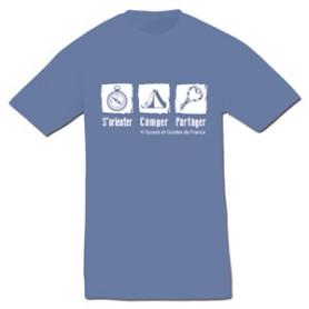 Tee - shirt « S'orienter, camper, partager » Taille M