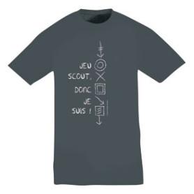 Tee - shirt « Jeu scout, donc je suis ! » Taille L