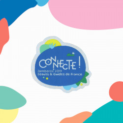 Insigne Connecte ! (Jamboree Scouts-Guides 2019)