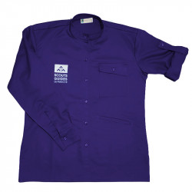 Chemise violette nouveau logo - Responsables, coupe homme