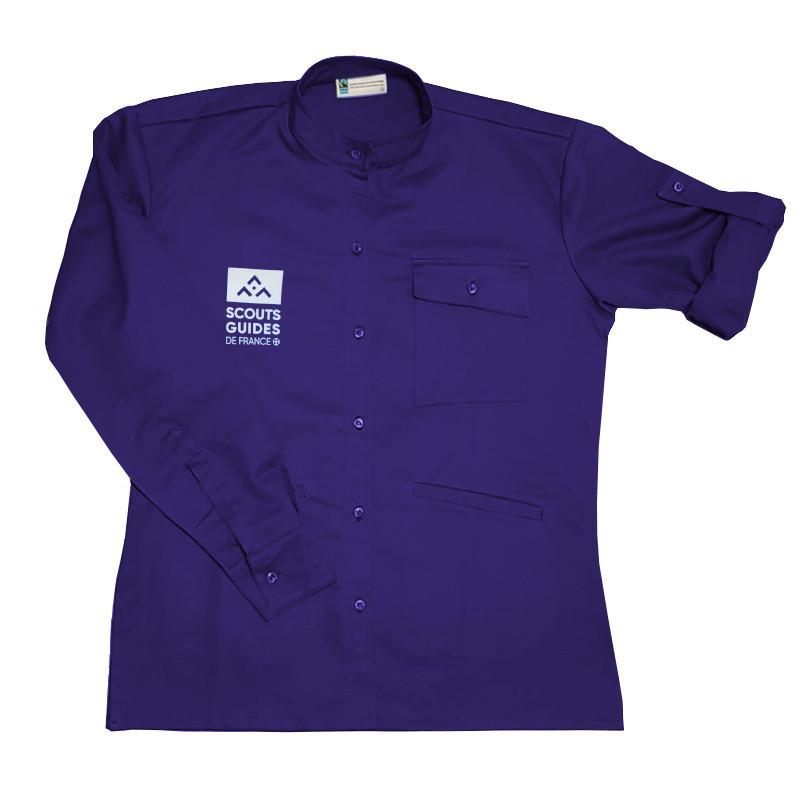 Chemise violette nouveau logo - Responsables, coupe femme