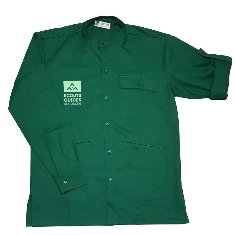 Chemise vert sapin nouveau logo - Compagnons